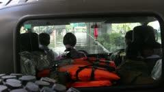 BKK Noi flood 0879 Stock Footage