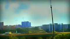 Tilt Shift Road Orlando Fl Skyline - stock footage