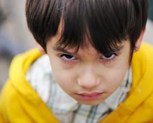 angry kid - stock photo