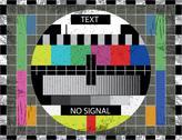 Tv color test screen on grunge background - illustration Stock Illustration
