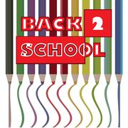 Back to school pencils theme -illustration Stock Illustration