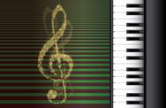 Piano roll on abstract background Stock Illustration