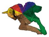 Isolated colored hunt dog - illustration Stock Illustration