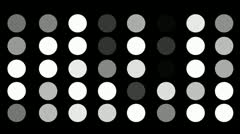 A Flickering Background of a Set of Circles Icons on a Black Screen Stock Footage