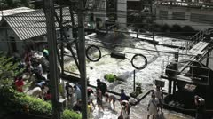 BKK Noi flood 0891 Stock Footage