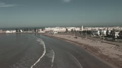 20081107-Essaouira-plage-chameaux-Maroc Stock Footage