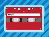 Classic audiocassette mc tape - illustration Stock Illustration