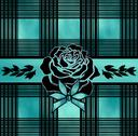 Stock Illustration of Pattern and a rose turquoise