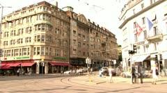 Zurich city center - stock footage