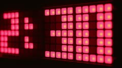 Led time clock counter Stock Footage