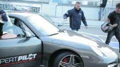 Porsche GT 3 at Hockenheim @ pitstop Stock Footage