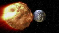 Asteroid - earth - space Stock Footage