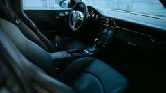 Cockpit of a Porsche GT 3 Stock Footage