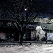 madonna graffiti - stock photo