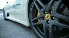 Ferrari rims in black Stock Footage