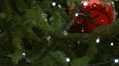 Bauble on a Chrismas tree Stock Footage