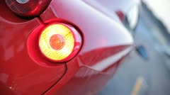 Ferrari rear light Stock Footage