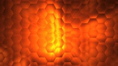 Abstract hex rays Stock Footage