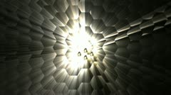 Abstract magic ray in hex field Stock Footage