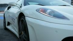 Ferrari in white Stock Footage