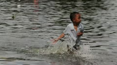 BKK Noi flood 0941 - stock footage