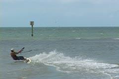 Kite Boarder Stock Footage