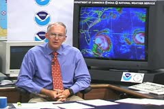 National Hurricane Center Max Mayfield Stock Footage