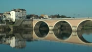 Stock Video Footage of Bridge - multiple arches