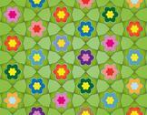 Meadow full of flowers Stock Illustration