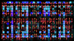 Colourful pattern of LED light squares Stock Footage