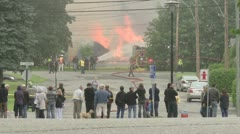 Incendie de l'usine Calko Stock Footage
