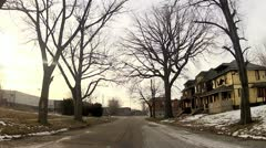 Detroit, Abandoned buildings - stock footage