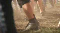 Rockers are dancing at a rock concert - part 8 Stock Footage