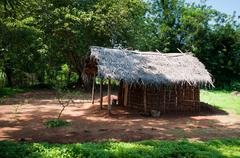 Traditional asian rural house Stock Photos