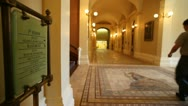 Stock Video Footage of Sacramento Capitol Building Hallway