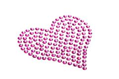 rhinestones in form of a heart - stock illustration