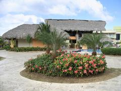 holiday resort at dominican republic - stock photo