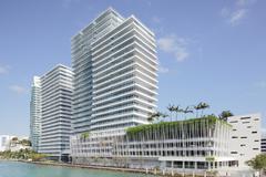 Modern highrise condo in Miami Stock Photos