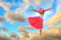 dance in sky - stock photo