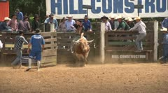 Bull riding at rodeo 3 Stock Footage
