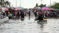 BKK Noi flood 0965 Stock Footage