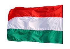 Waving flag of hungary Stock Photos