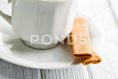 Stock photo of crepes dentelle