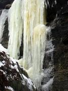 icicles  glacial cataract - stock photo