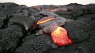 Hawaii lava flow, molten lava closeup Stock Footage