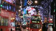 Christmas in Oxford Street, London Stock Footage