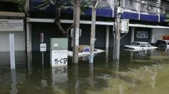 BKK Noi flood 0984 Stock Footage
