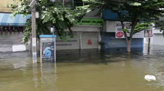 BKK Noi flood 0985 Stock Footage