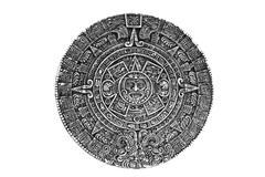 pagan ornament a sun stone - stock photo