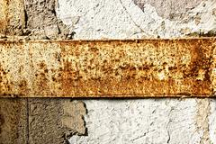 Stock Photo of texture of a stone wall with rust stains